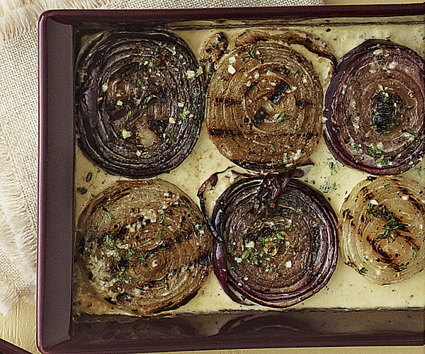 Grilled Onions with Thyme and Cream