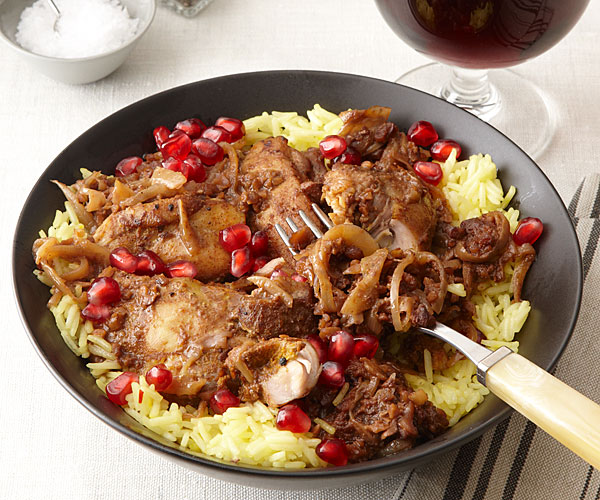 Persian Chicken With Pomegranate And Walnuts Recipe Finecooking