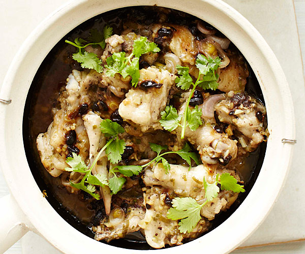 Steamed Chicken with Preserved Black Beans and Ginger