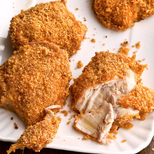 Honey-Crisp Oven-Fried Chicken