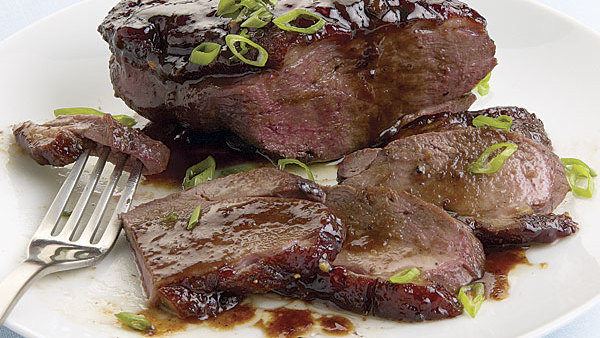 Pepper-Crusted Duck Breasts with Cherry-Port Sauce ...