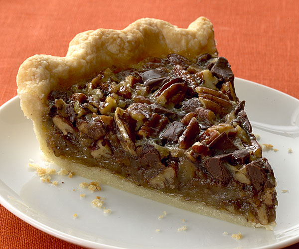 chocolate bourbon pecan pie bourbon chocolate pecan pie recipe finecooking 12041