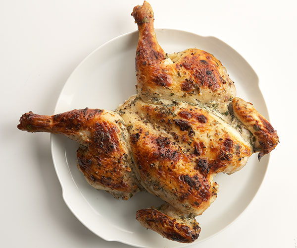 Yogurt-Marinated Roast Chicken