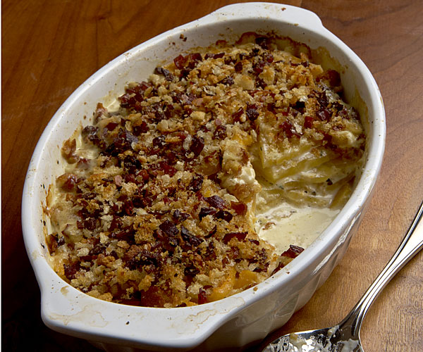Rutabaga Gratin with Prosciutto and Gruyère