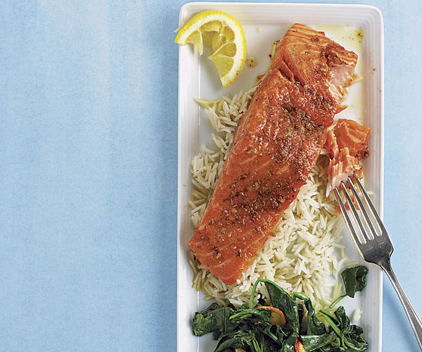 Olive Oil Poached Salmon with Indian Spices