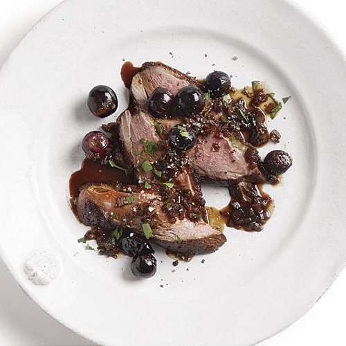 Duck Breast With Saba And Grapes Finecooking