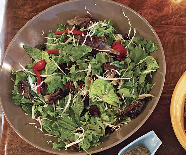 Mixed Herb Salad with Honey-Lime Dressing