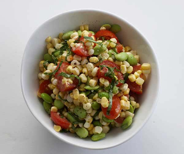 Toasted Corn, Cherry Tomato, and Edamame Salad