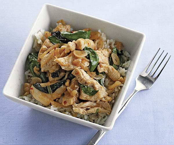 Thai style stir fried chicken and basil recipe finecooking thai style stir fried chicken and basil by lori longbotham fine cooking forumfinder Choice Image