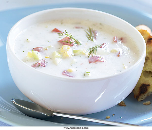 Summer Vegetable Soup With Dill