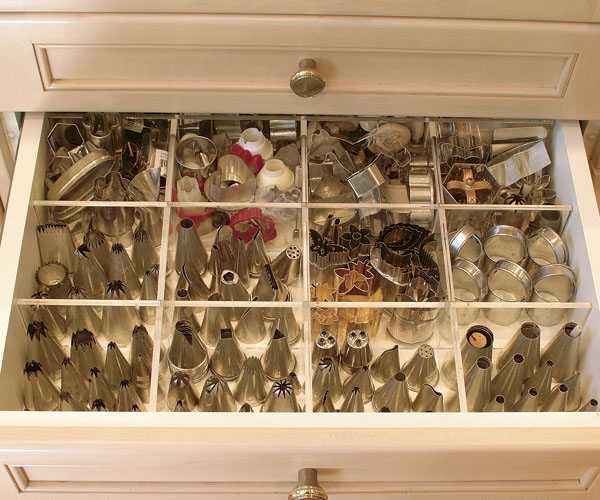 A Divided Drawer Thatu0027s As Intriguing As A Shadowbox Keeps Artful Order  Among Small Items Like Pastry Tips, Miniature Biscuit Cutters, And Tiny  Cookie ...