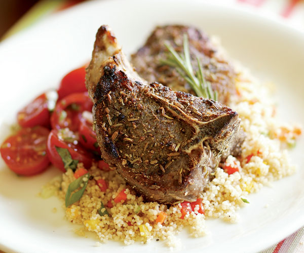 Lamb Chops Crusted With Fennel & Black Pepper