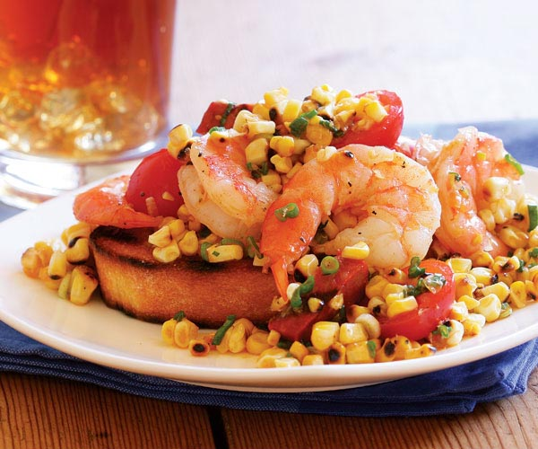 Grilled Corn, Shrimp & Chorizo Salad