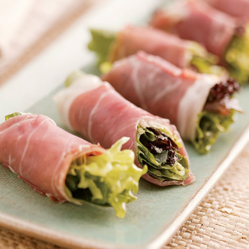Dinner party recipes for any style finecooking prosciutto wrapped greens forumfinder Gallery
