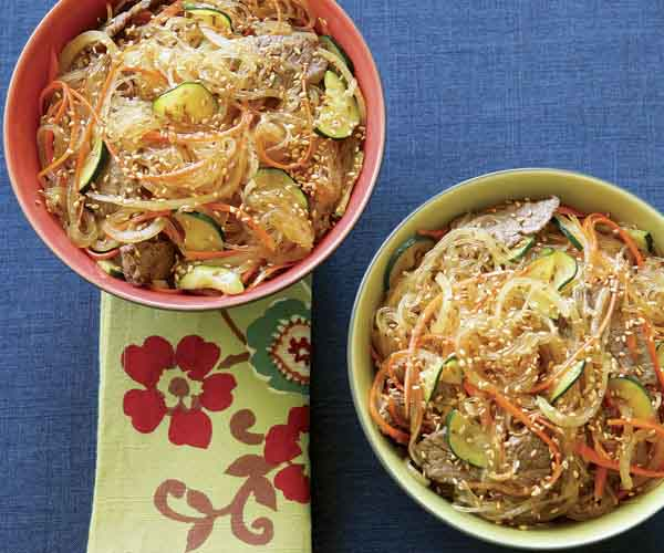 Stir Fried Noodles With Beef Vegetables Recipe Finecooking