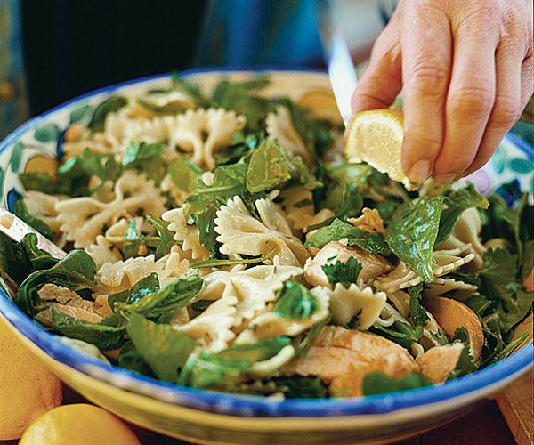 Herbed Farfalle Amp Grilled Chicken Recipe Finecooking