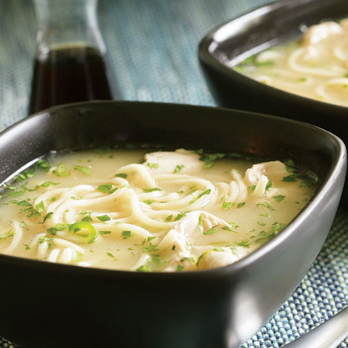 Lemony Chicken Noodle Soup With Ginger Chile Amp Cilantro