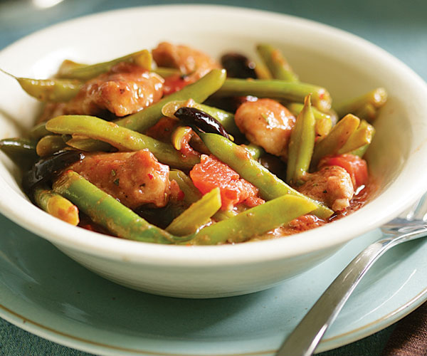 Braised Italian Chicken With Green Beans Tomatoes Olives