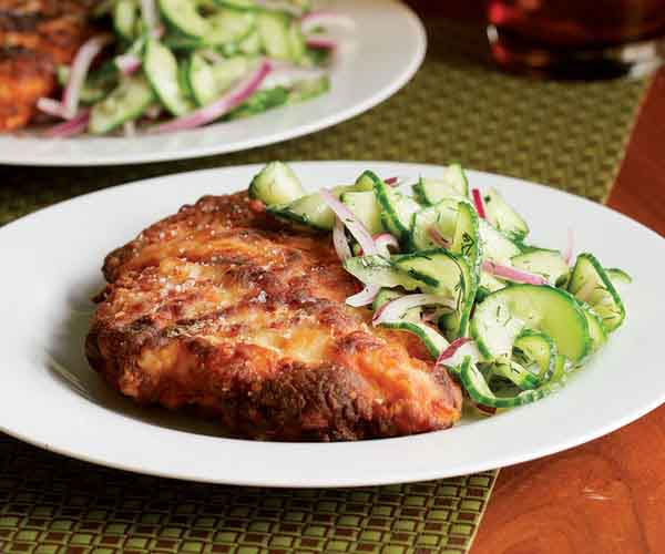 Buttermilk Country Fried Chicken With Cucumber Salad Recipe Finecooking