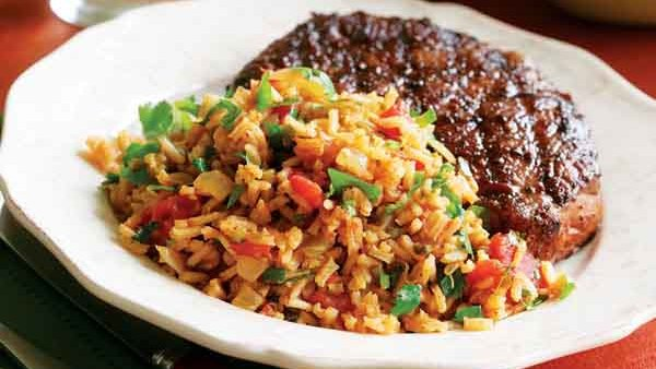 Mexican Tomato Rice Beans Recipe Recipe Finecooking