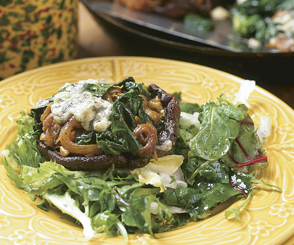 Portabellas Stuffed with Blue Cheese