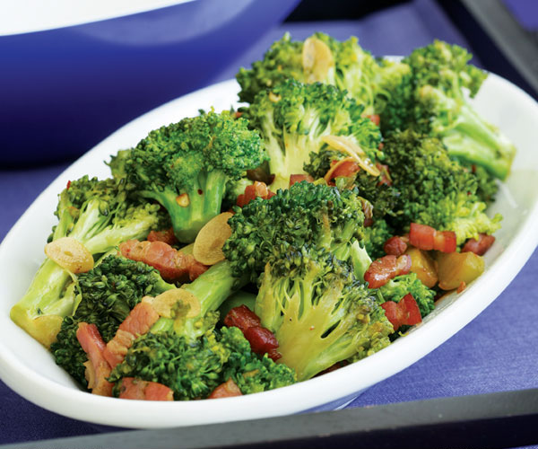 Slow Cooked Broccoli With Garlic Amp Pancetta Recipe