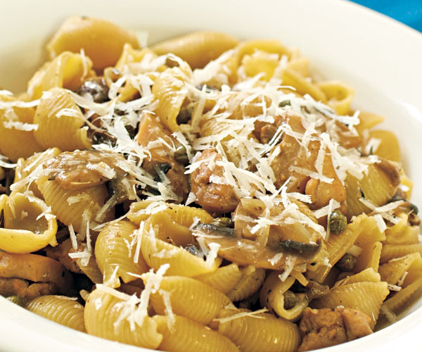 Pasta Shells With Chicken Mushrooms Capers