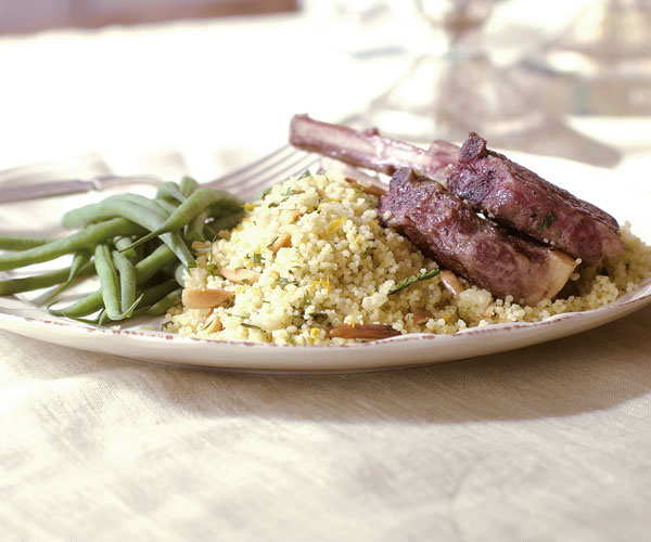 Couscous with Ginger, Orange, Almond & Herbs