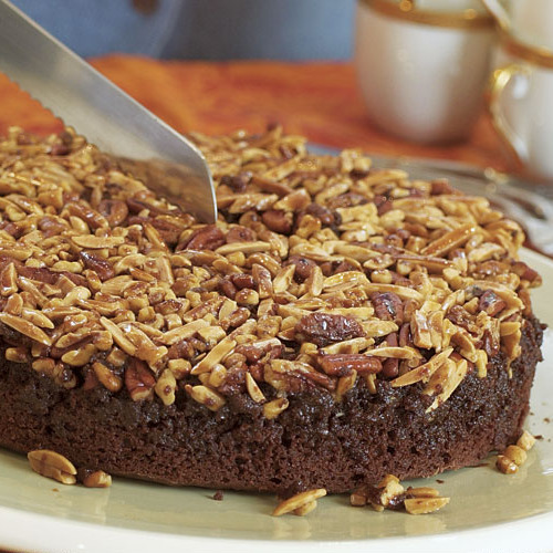 Chocolate Nut Upside Down Cake Recipe Finecooking