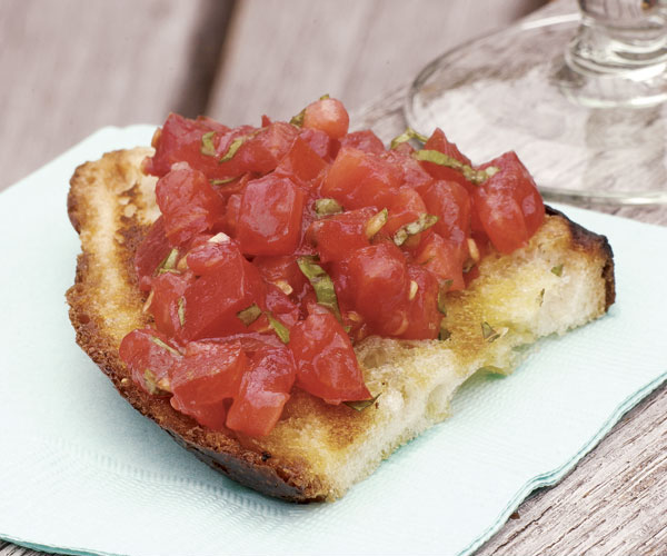 Fresh Mozzarella Bruschetta with Tomato & Basil