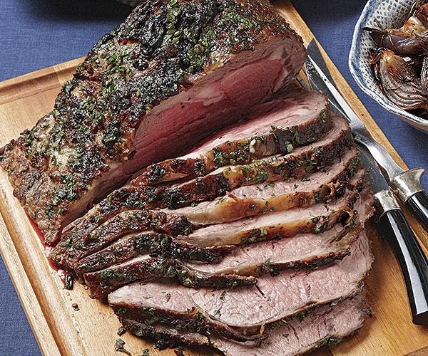rib roast with english mustard and fresh herb dressing