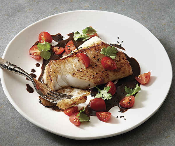 Seared cod with black garlic sauce recipe finecooking for Is cod fish kosher