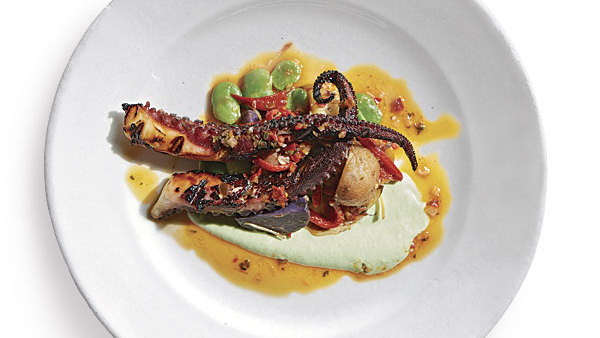 Grilled Octopus Salad Moveable Feast Recipe Finecooking
