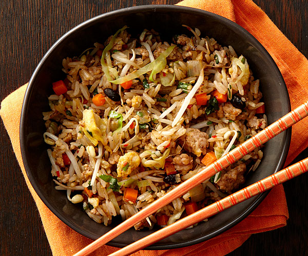 Chinese garlic black bean pork fried rice recipe finecooking scott phillips forumfinder Images