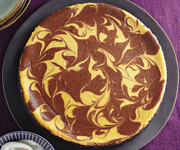 Chocolate Swirled Pumpkin Cheesecake Recipe Finecooking