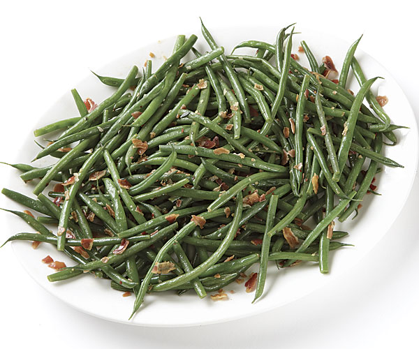 haricots verts with spicy pancetta dressing recipe finecooking. Black Bedroom Furniture Sets. Home Design Ideas