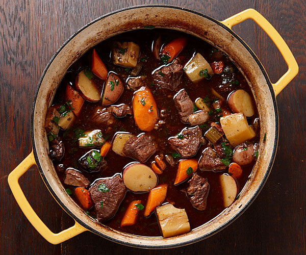 Beef Stew with Root Vegetables and Horseradish