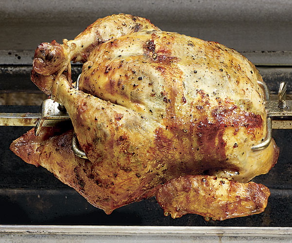 Spit Roasted Chicken With Tarragon Butter