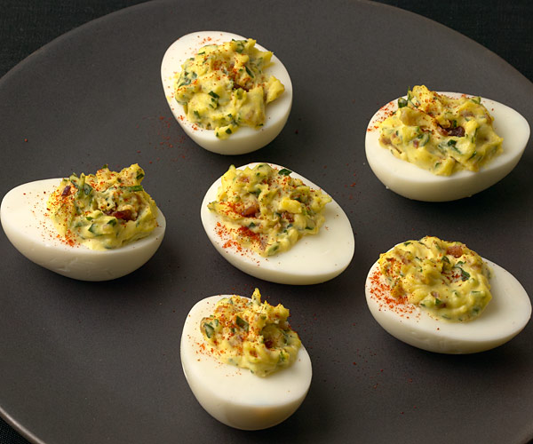 Bacon and Smoked Paprika Deviled Eggs