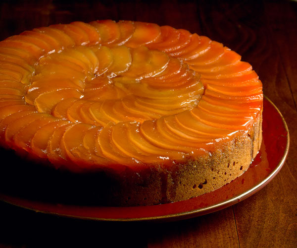 Upside Down Quince And Honey E Cake