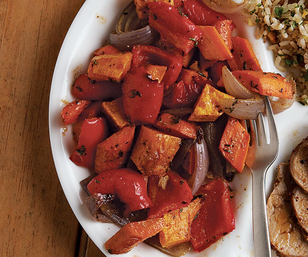 Sweet and Spicy Roasted Vegetables