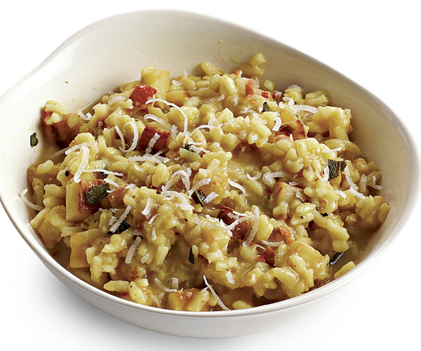 Parsnip Risotto with Pancetta and Sage