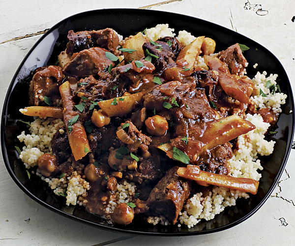 Lamb Stew with Parsnips, Prunes, and Chickpeas