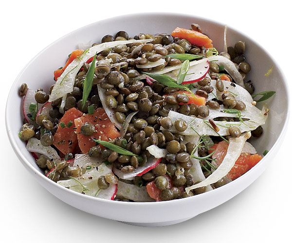 Lentil Salad with Fennel and Smoked Salmon