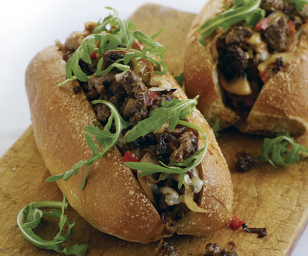 Chopped Steak Sandwiches