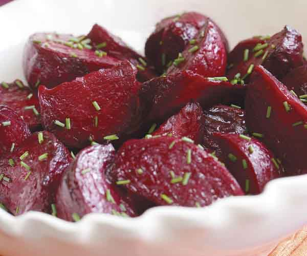 Roasted Beets with White Balsamic & Citrus Dressing