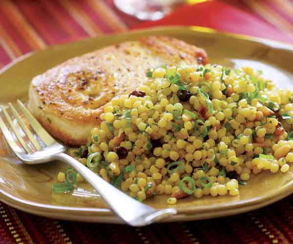 Israeli Couscous With Saffron Toasted Pine Nuts Currants Recipe Finecooking