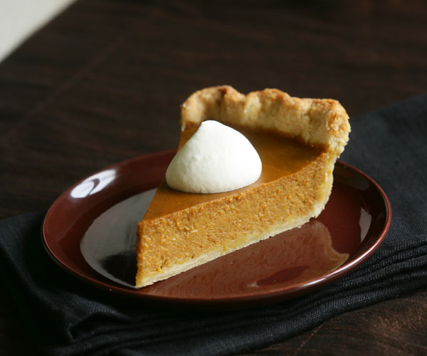 Bourbon-Vanilla Bean Pumpkin Pie