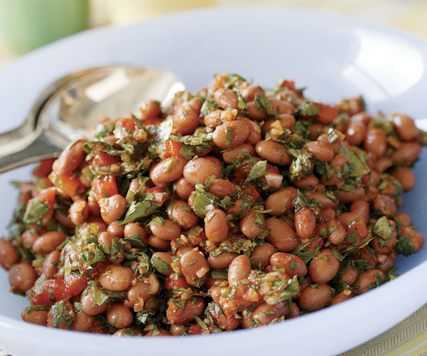 Pink Beans with Roasted Red Pepper, Lemon & Fresh Herbs