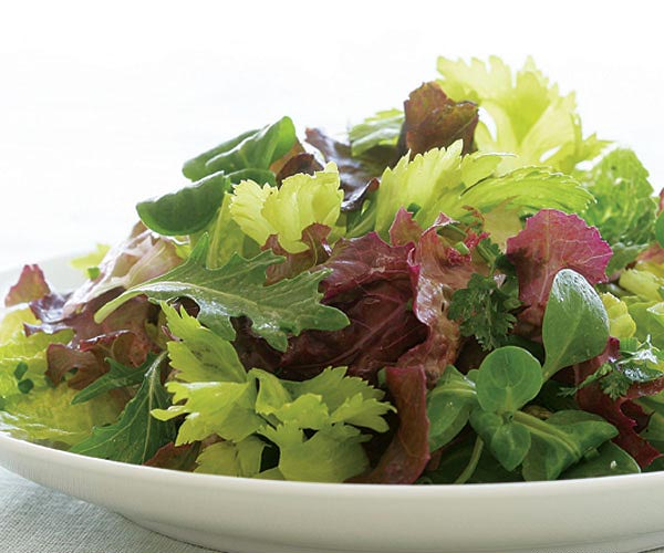 Mixed Green Salad with Red-Wine & Dijon Vinaigrette